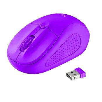 TRUST Primo Wireless Mouse 21924 Neon Purple product