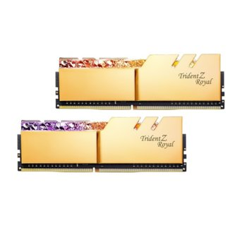 Памет 16GB (2x8GB) DDR4 4000MHz, G.SKILL Trident Z Royal, F4-4000C18D-16GTRG, 1.35V, RGB image