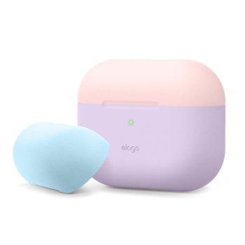 Калъф за слушалки Elago Duo Silicone EAPPDO-LV-LPKPBL, за Apple AirPods Pro, силиконов, лилав-розов image