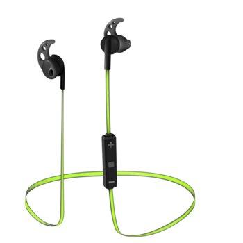 """Слушалки Trust Sila, Bluetooth, микрофон, тип """"тапи"""", черни/зелени image"""