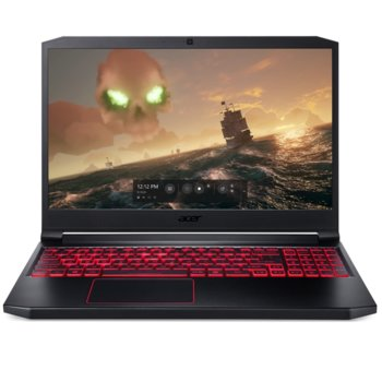 "Лаптоп Acer Nitro 7 AN715-51-72KR (NH.Q5HEX.017), шестядрен Intel Core i7-9750H 2.6/4.5 GHz, 15.6"" (39.62 cm) Full HD дисплей & GF GTX 1660Ti 6GB (HDMI), 8GB DDR4, 1TB SSD, Linux, 2.50kg  image"