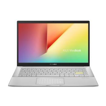 "Лаптоп Asus Vivobook S14 S433JQ-WB714T (90NB0RD3-M01480)(бял), четириядрен Ice Lake Intel Core i7-1065G7 1.3/3.9 GHz, 14.0"" (35.56cm) Full HD Anti-Glare Display & GF MX350 2GB, (HDMI), 8GB, 512GB SSD, 1x USB 3.1 Type-C, Windows 10 Home  image"