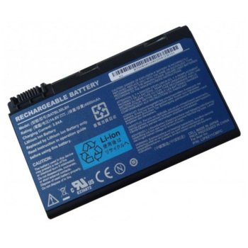 Батерия (заместител) за лаптоп Acer, съвместима със серия Aspire 3100 5100 5630 9800 TravelMate 2490 4200 5210 - 8 cell 14.8V 5200mAh image