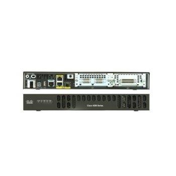 Рутер Cisco ISR 4221, 2х10/100/1000Base-T WAN, 2x 10/100/1000 LAN, 1x SFP, 4GB DRAM, 4GB памет, 1x USB 2.0 image