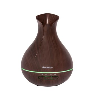 Овлажнител на въздух Rohnson R-9585, 10W, 400 ml, вместимост на резервоара, таймер, автоматично изключване, кафяв image