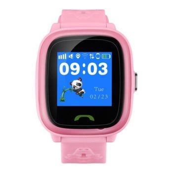 "Смарт часовник Canyon Polly, 1.22"" (3.09 cm) сензорен дисплей, microSIM слот, SOS бутон, IP68 водоустойчивост, двупосочни разговори, розов image"