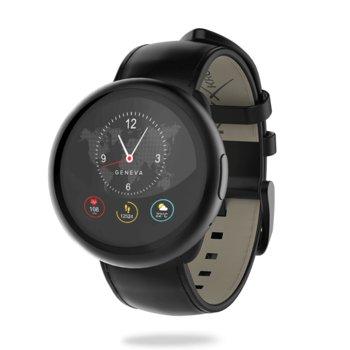 """Смарт часовник MyKronoz ZeRound2 HR Premium, 1.22"""" (3.09 cm) TFT сензорен дисплей, Bluetooth 4.0, до 2.5 часа време за разговори, водоустойчив IP67, черен image"""