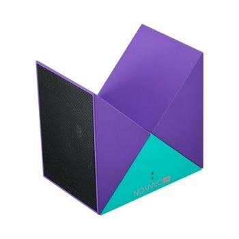 Тонколони Canyon CNS-CBTSP4GBL, 2.0, 6W RMS (3W + 3W), Bluetooth, AUX, micro-USB, Micro-SD слот, до 8 часа време за работа, лилава/тюркоазена  image