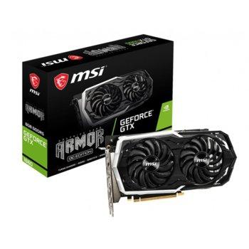 Видео карта Nvidia GeForce GTX 1660, 6GB, MSI Armor OC, PCI-E, GDDR6, 192-bit, DisplayPort, HDMI image