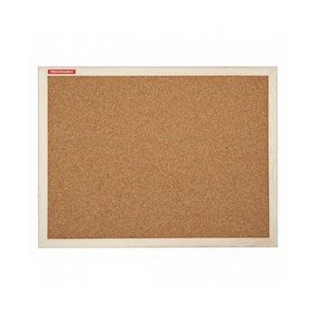 Коркова дъска Memoboards, с дървена рамка, размер 600x1800 mm, кафява image