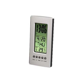 Цифров термометър, HAMA 75298, kалендар, aларма, часовник image