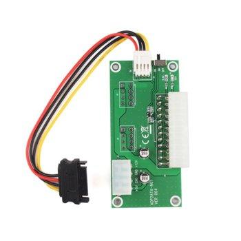 Контролер ADD2PSU, от ATX 24pin към Molex 4pin, за 2 захранвания в една конфигурация, за mining image