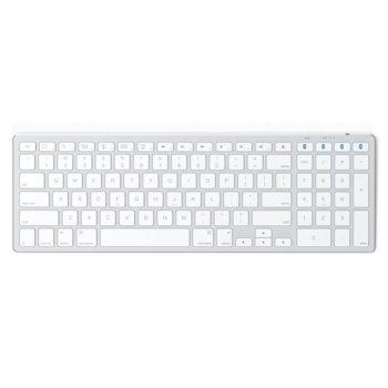Клавиатура Satechi Slim Wireless Keyboard, безжична, Bluetooth 3.0, за Apple устройства, бяла image