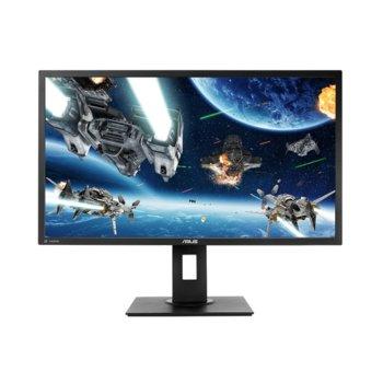 """Монитор Asus VP28UQGL (90LM03M0-B02170), 28"""" (71.12cm) TN панел, Ultra HD, 1ms, 100000000:1, 300 cd/m2, HDMI, DisplayPort image"""