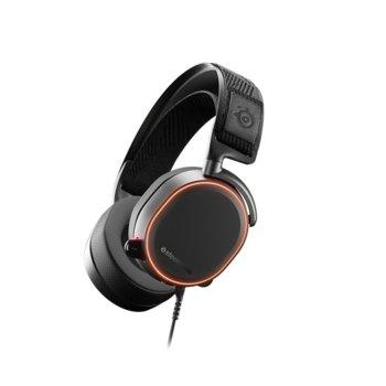 Слушалки SteelSeries Arctis Pro, микрофон, геймърски, подсветка, черни image