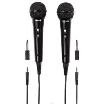 Комплект от динамични микрофони Hama Thomson M135D, 3.5мм жак, 2 бр., черни image