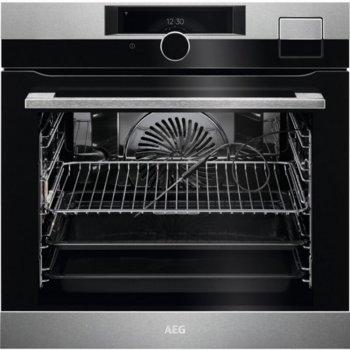 Фурна за вграждане AEG BSK999330M, 70 л. обем на фурната, функция Steamify, функция бързо нагряване, почистване с пара, инокс image