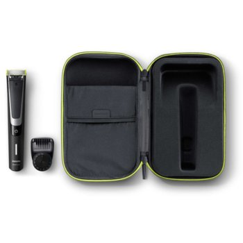 Самобръсначка Philips OneBlade Pro QP6510/64, до 60 мин. работа, водоустойчива, 12 настройки, черна image