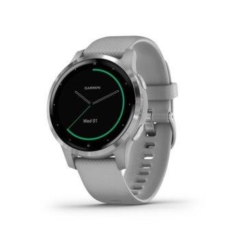 "Смарт часовник Garmin vívoactive 4/4S, 1.3"" (33.0 мм) MIP дисплей, до 8 дни живот на батерията, водоустойчив, Wi-Fi, Bluetooth, сив image"