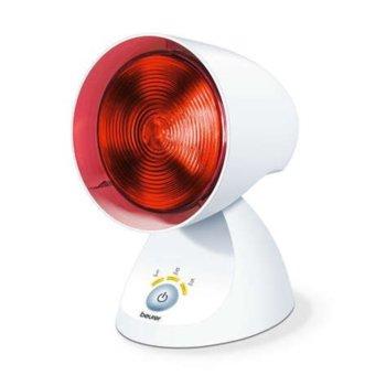 Инфрачервена лампа Beurer IL 35, автоматично изключване, таймер, настройка на наклон, 150 W, бяла image