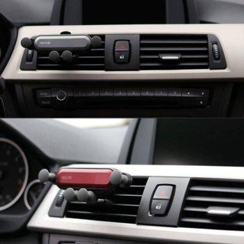 """Стойка за телефон Makki MAKKI-YT-01, универсална, подходяща за смартфони от 4.7"""" до 6.5"""", възможност за зареждане, за кола, черна image"""