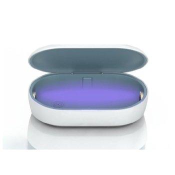 Безжично зарядно устройство UV Sterilizing Box, дезинфекциращи UV лъчи, 9V/2А, бяло image