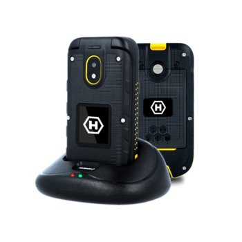 "GSM myPhone myPhone Bow+ (черен), поддържа 2 sim карти, 2.4"" (6.09 cm) TFT дисплей, 128MB Flash памет (+ microSD слот), 2 MPix камера, IP68 image"