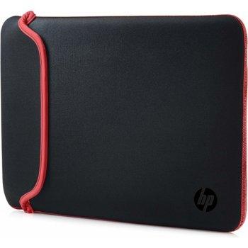 "Калъф за лаптоп HP 15.6 Chroma Sleeve Black/Red VV5C30AA, до 15.6"" (39.62 cm), черен image"
