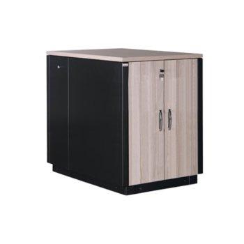 Шумоизолиран шкаф Lande 17U, 600 x 1100 cm, черен/кафяв image