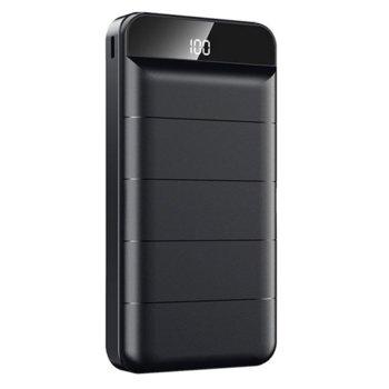 Bъншна батерия /power bank/ Remax Leader RPP-140, 20000 mAh, черна, Micro USB - 5V 2.0A, USB Type-C image