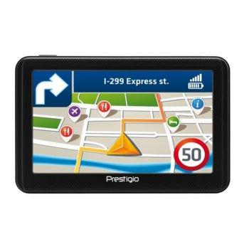 """Навигация за кола Prestigio GeoVision 5060, 5"""" (12.7 cm) Multi-Touch TFT LCD дисплей, Micro SD, без карти image"""