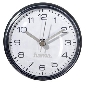 Часовник Hama Mini 186415, за баня, стенен, кварцов механизъм, черен image