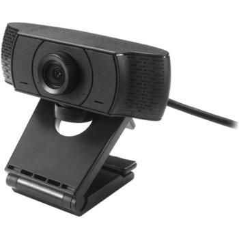 Уеб камера Serioux SRXW-HD720P, 1MP(30fps) 1280 x 720, микрофон, USB, ръчно фокусиране, черна image