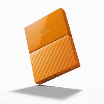 """Твърд диск 4TB Western Digital My Passport WDBYFT0040BOR(оранжев), външен, 2.5"""" (6.35 cm), USB 3.0 image"""