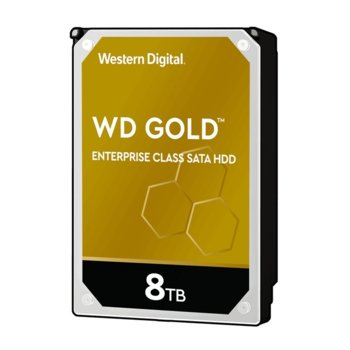 "Твърд диск 8TB WD Gold Enterprise, SATA 6Gb/s, 7200 rpm, 256MB, 3.5"" (8.89cm) image"