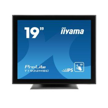 "Дисплей Iiyama T1932MSC-B5X, тъч дисплей, 19"" (48.26 cm), SXGA, HDMI, VGA, DisplayPort image"