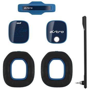 Аксесоари за слушалки Astro A40 TR Mod Kit (939-001546), включва звукоизолиращ микрофон / подплатена лента за глава / шумоизолиращи възглавици / силиконови прегради, сини image