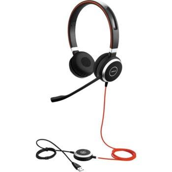 Слушалки Jabra Evolve 40 Stereo 6399-829-209, USB, AUX, шумопремахващ микрофон, Wideband/Hi-fi/DSP, Busy light индикатор, черни image