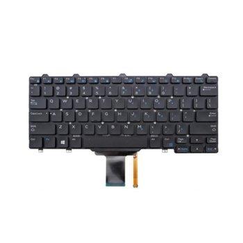 Клавиатура за лаптоп Dell, съвместима със серия Latitude 13 5250 7000 7350, черна, без рамка, с малък ентър, US, с подсветка image