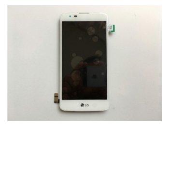 Дисплей за LG K8 (K350N), с тъч, бял, оригинален image