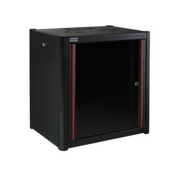 """Комуникационен шкаф Mirsan MR.WTN12U66.01, 19"""", 12U, 600 x 600 x 645 мм, за монтаж на стена, черен image"""