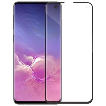 Протектор от закалено стъкло /Tempered Glass/, за Samsung Galaxy S10, 5D, черна рамка image