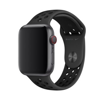 Каишка за смарт часовник Apple Watch (44mm) Nike Band:Anthracite/Black Nike Sport Band - S/M & M/L, черна image