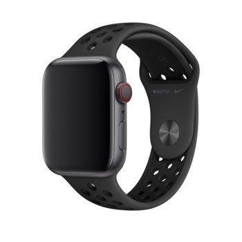 Каишка за смарт часовник Apple Watch (44mm) Nike Band:Anthracite/Black Nike Sport Band - S/M & M/L, черна image