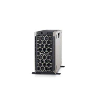 Сървър Dell PowerEdge T440 (#DELL02570_1), десетядрен Cascade Lake Intel Xeon 4210 2.2/3.2 GHz, 16GB DDR4 RDIMM, без твърд диск, 2x LAN, без ОС, 750W PSU  image