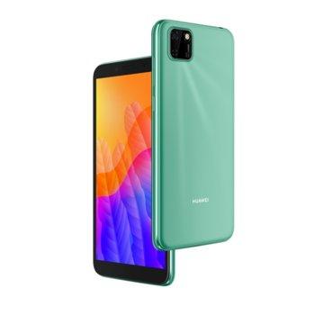"""Смартфон Huawei Y5p (зелен), поддържа 2 sim карти, 5.45"""" (13.84 cm) TFT LCD HD+ дисплей, осемядрен Cortex-A53 2.0GHz, 2GB RAM, 32GB Flash памет (+Micro SD слот), 8.0 MPix & 5.0 MPix предна камера, EMUI 10.1, 144g image"""