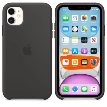 Калъф за Apple iPhone 11, силиконов, Apple Silicone Case MWVU2ZM/A, черен image