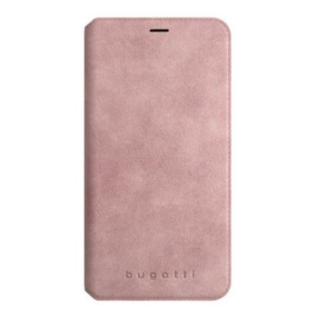 Калъф за Apple iPhone XS/X, велур, Bugatti Parigi Booklet Case, розов image