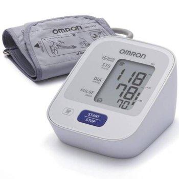 Апарат за кръвно налягане OMRON M2, технология IntelliSense, индикатор за правилно поставяне на маншета, индикация за неравномерен пулс, сив image