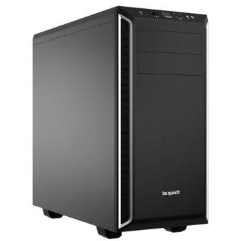 Кутия Be Quiet PURE BASE 600, ATX/Micro-ATX/Mini-ITX, 2x USB 3.0, черна/сребриста, без захранване image